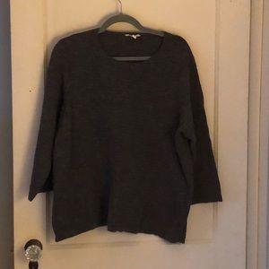 Eileen Fisher textured sweater.